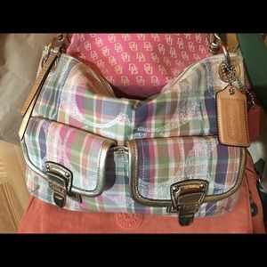 Coach Multi-Color Tartan Plaid Shoulder Bag